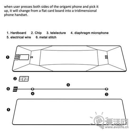 国人打造立体折纸电话