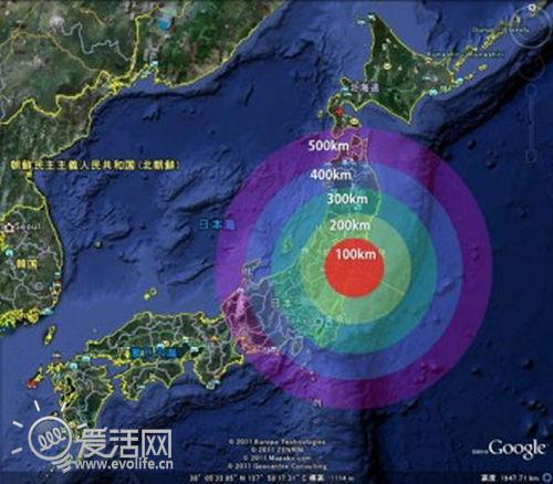 福岛核电站泄露的放射性物质已经随着洋流扩散