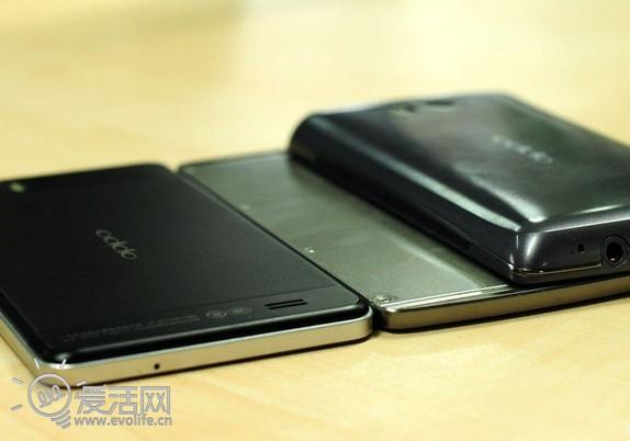 手机 oppo/OPPO神秘新机与Find3对比图...