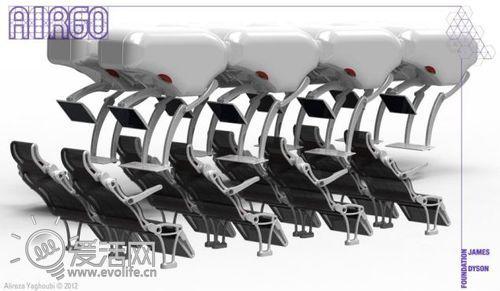 革命性的飞机座椅设计