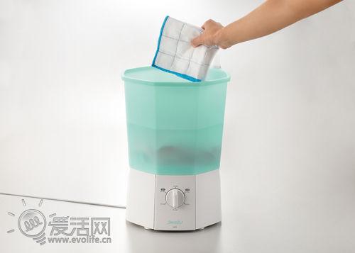 比饮水机还小 能摆上餐桌的超迷你洗衣机SWASH