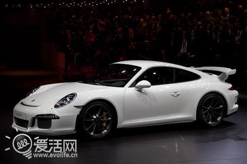 2014版保时捷911 GT3白色涂装现身日内瓦车展高清图片