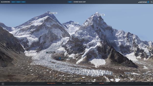 雪山 冰河风景壁纸
