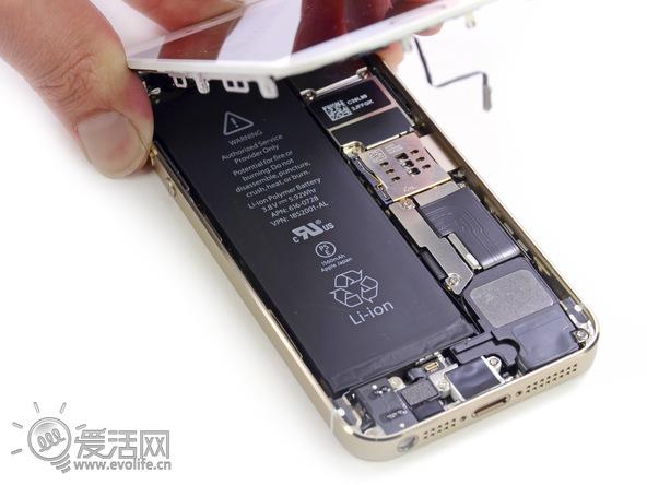 苹果iphone 5s刚刚发售,业界良心ifixit就再次为我们带来了这款新机的