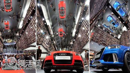 城市建在车展中 一探2013法兰克福奥迪,奔驰,宝马展台