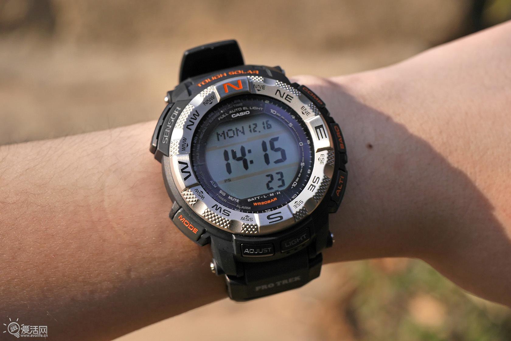 荒野生存硬汉 卡西欧专业登山表pro trek prg-260体验