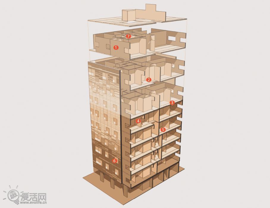 用木头打造高层大楼:探秘伦敦木质公寓stadthaus