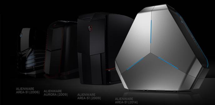 造型比Mac Pro还要惊艳 Alienware Area-51游戏PC重出江