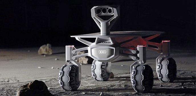 奥迪Lunar Quattro玩的不仅是四驱 而是在月球上玩越野