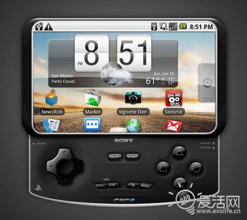 传索爱将推Android 3.0平台游戏机 极像PSP Go