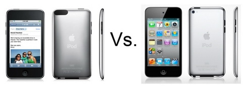 iPod Touch 3 vs iPod Touch 4 变化看个仔细!