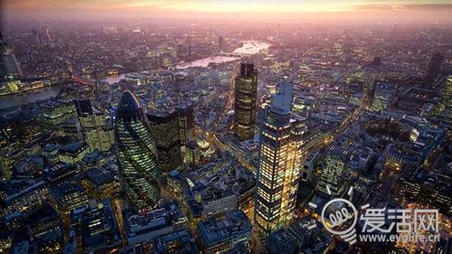 英格兰的浪漫 用诺基亚N8航拍伦敦夜景