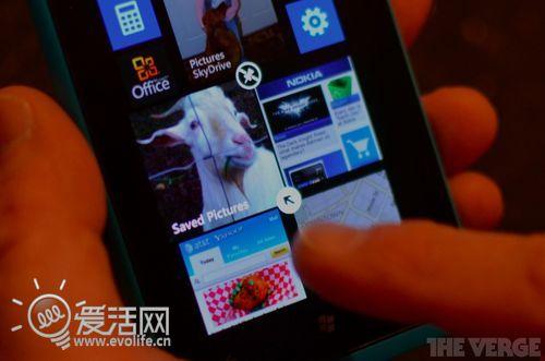 板砖在你掌心 Lumia 900真机升级WP7.8主屏快照