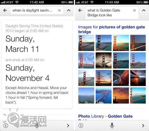 谷歌更新Google iOS App语音搜索 Siri最大挑战者现身