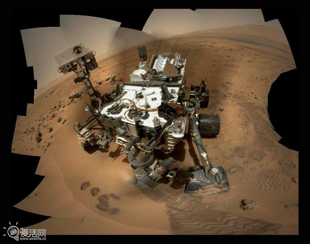 火星车图片_好奇号在火星卖萌玩自拍 展示诸多新细节_爱活网 Evolife.cn