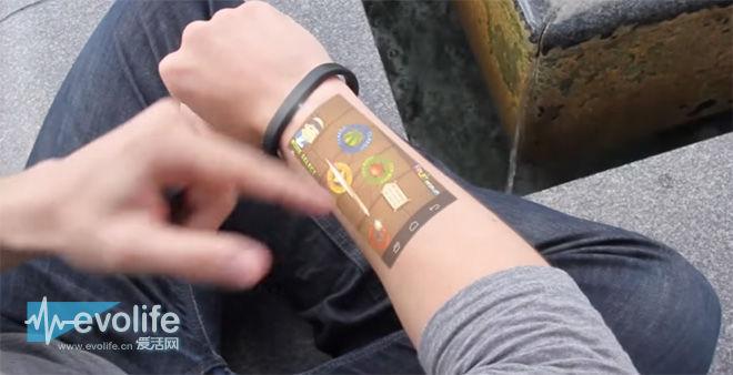 让你的手臂变成手机屏幕 Cicret手环就能做得到?