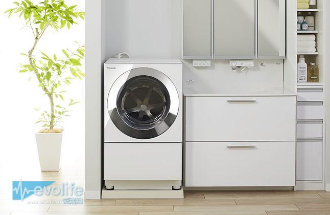 个子高还省电的松下Cuble滚筒洗衣机 看起来有点像洗碗机