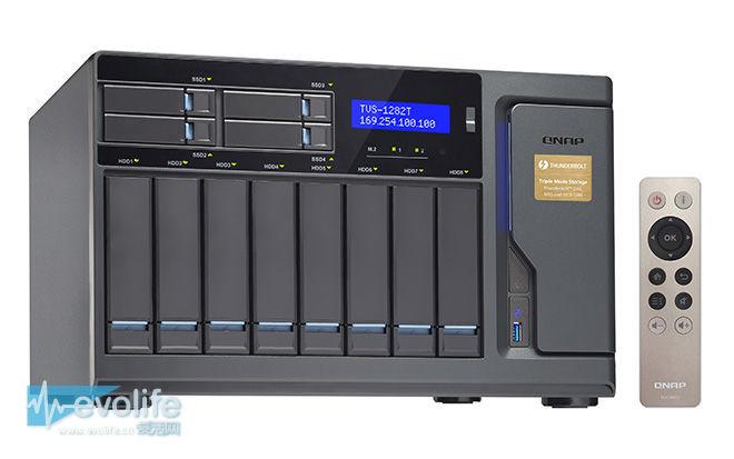 TVS-x82T正式亮相 QNAP的雷电NAS现在又有了分层存储
