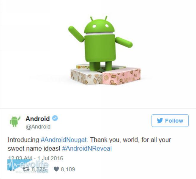 骚年快来一发牛轧糖压压惊 Android N正式命名为Nougat