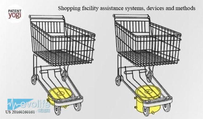 这回逛超市是真轻松 沃尔玛的购物车可以跟着你走