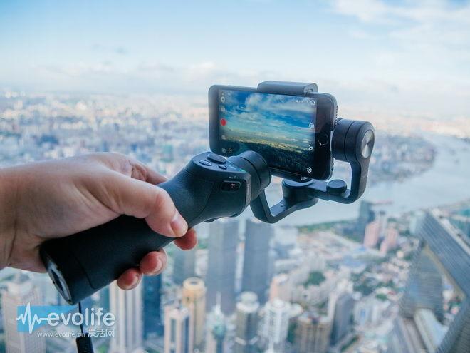 带着大疆OSMO手机云台 登顶上海之巅